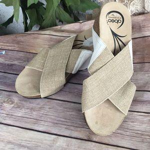 Abeo elastic top wedge sandal size 10 like new